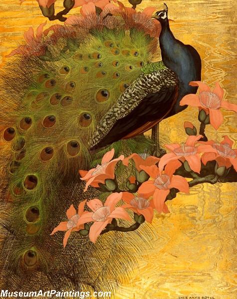 Peacock Paintings Blue Peacock