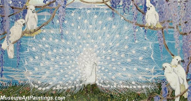 Peacock Paintings White Peacock