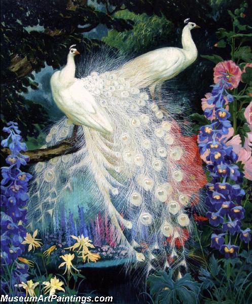 Peacock Paintings by Jessie Arms Botke 001