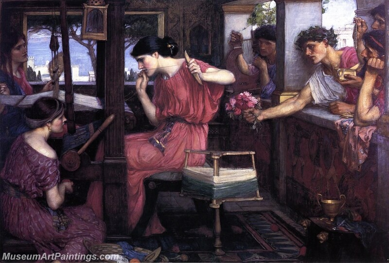 Penelope and the Suitors Painting