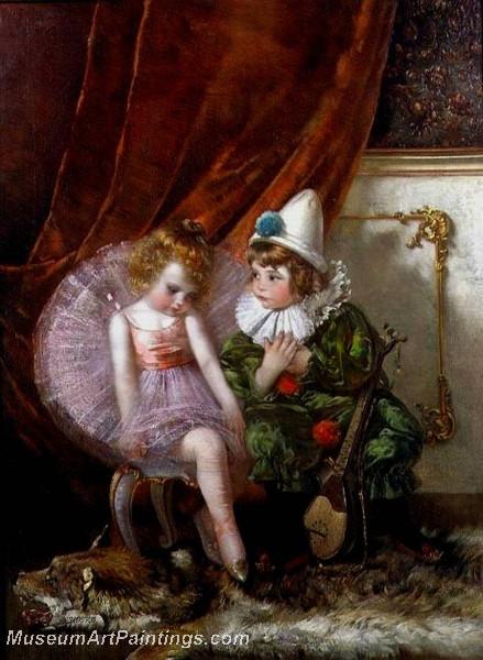 Pierrot and Pierrette by Edmond Louyot