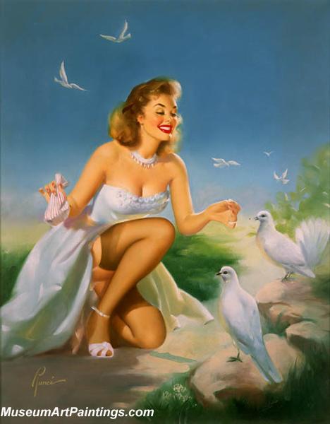 Pin Up Paintings Pleasing Her Flock