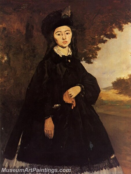 Portrait of Madame Brunet Painting