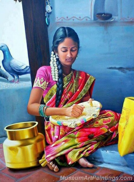 Rural Indian Women Paintings 058