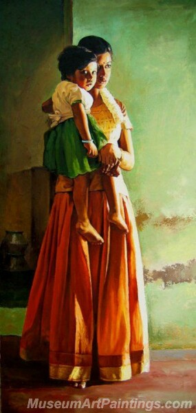 Rural Indian Women Paintings 060
