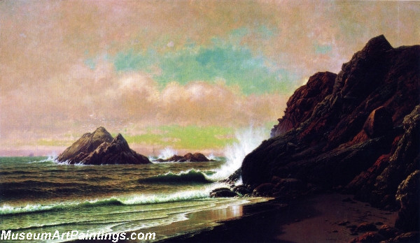 Seascape Paintings Seal Rocks from Under the Cliffs San Francisco California