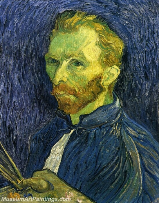 Self Portrait with Pallette Painting