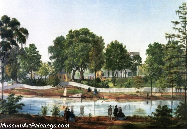 Shadows on the Teche Bayou side View by Marie Adrien Persac