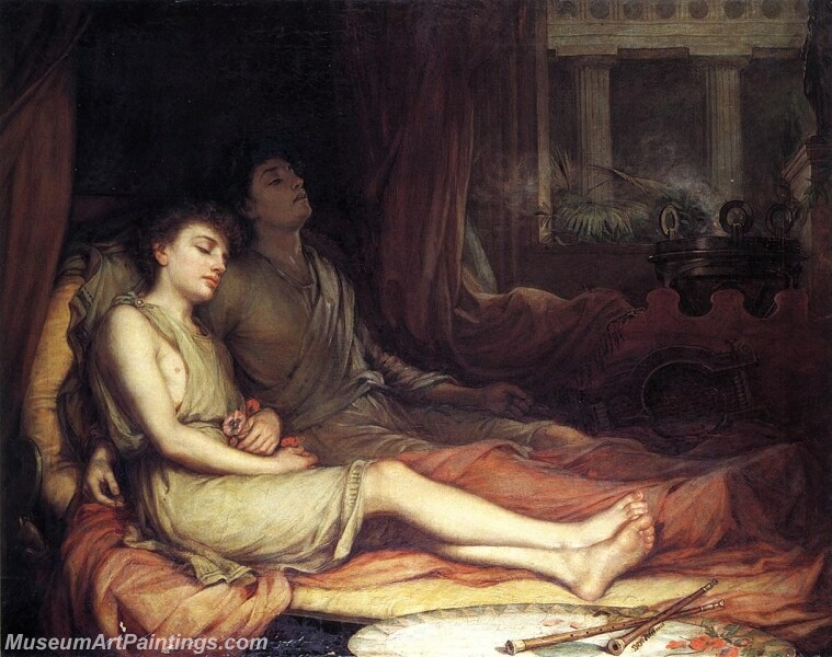 Sleep and His Half Brother Death Painting