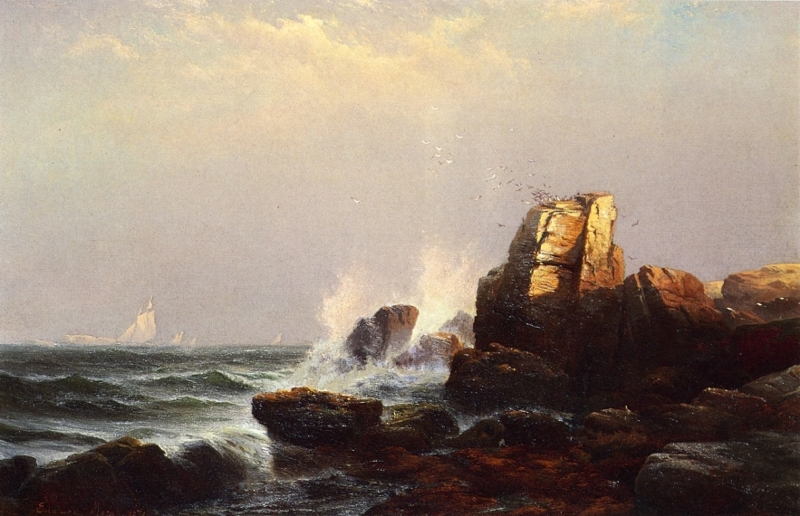 Steeple Rock Bar Harbor Maine by Edward Moran