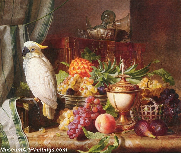 Still Life with Fruit and a Cockatoo Painting