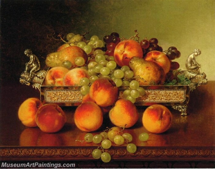 Still Life with Peaches and a Silver Dish Painting