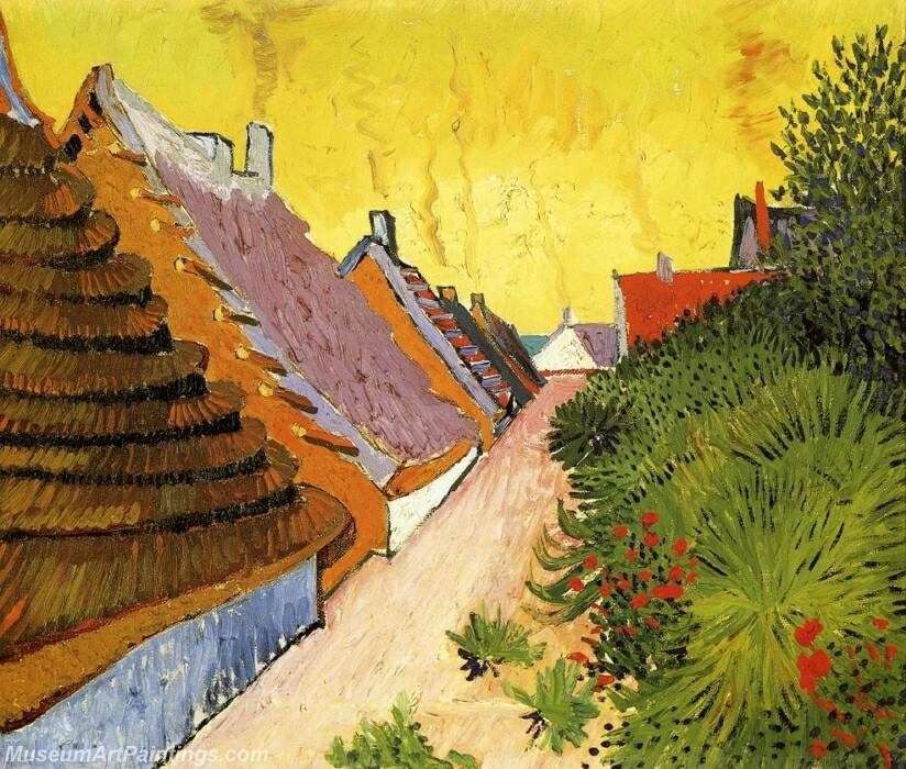 Street in Saintes Maries Painting