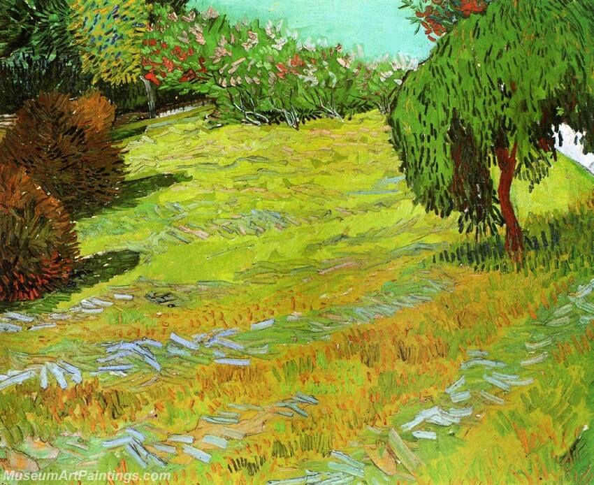 Sunny Lawn in a Public Park Painting