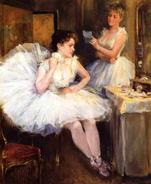 The Ballet Dancers by Willard Leroy Metcalf