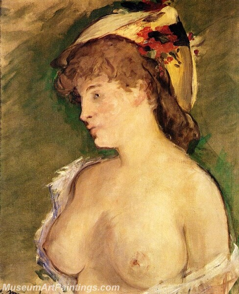 The Blond with Bare Breasts Painting