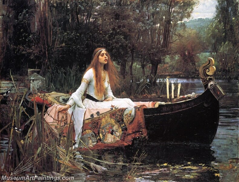 The Lady of Shalott Painting