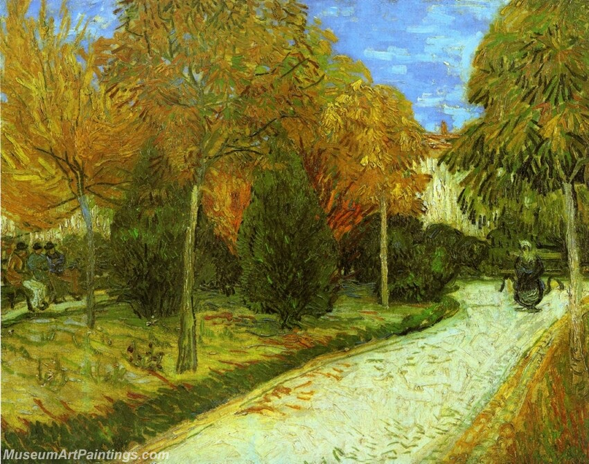 The Public Park at Arles Painting