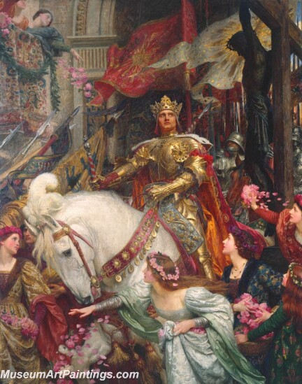 The Two Crowns Painting by Sir Frank Dicksee
