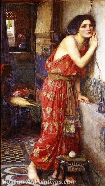 Thisbe The Listener Painting
