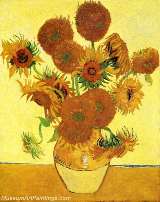 Van Gogh Sunflowers Painting