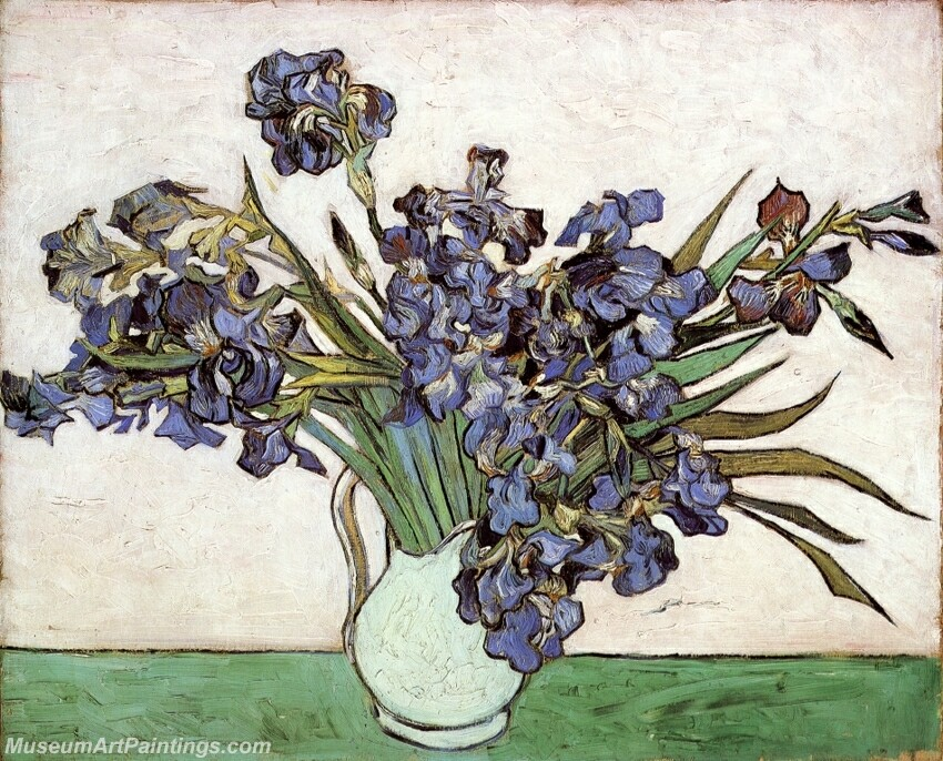 Vase With Irises Painting