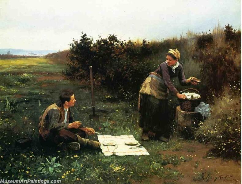 Village Girl Paintings The Honeymoon Breakfast