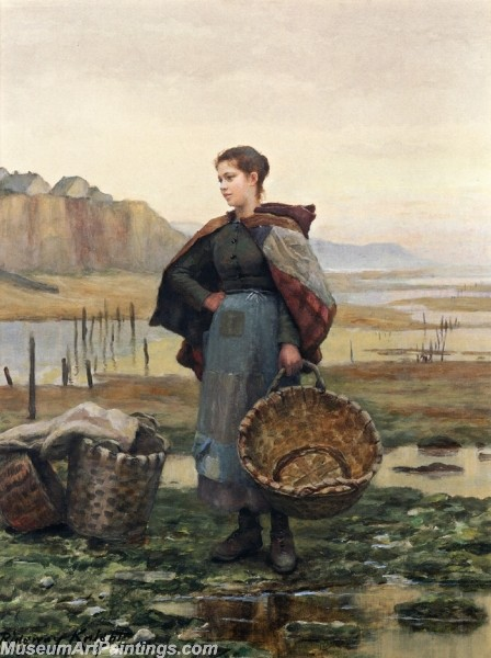 Village Girl Paintings The Young Laundress