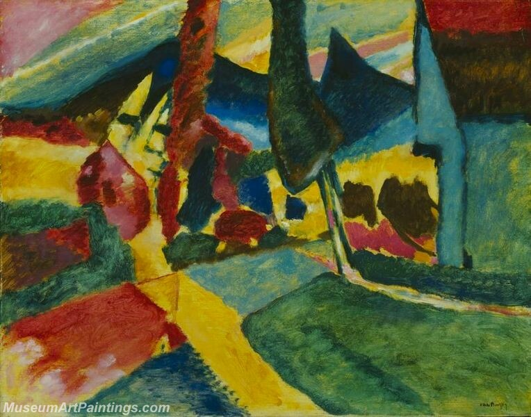 Wasilly Kandinsky 1912 Landscape With Two Poplars Painting