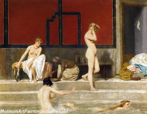 Woman Nude Paintings Elegant Ladies at the Baths